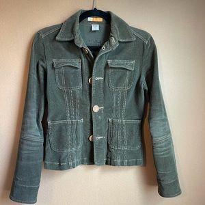 EUC TULLE Olive Green Corduroy Waist Jacket Sz SM